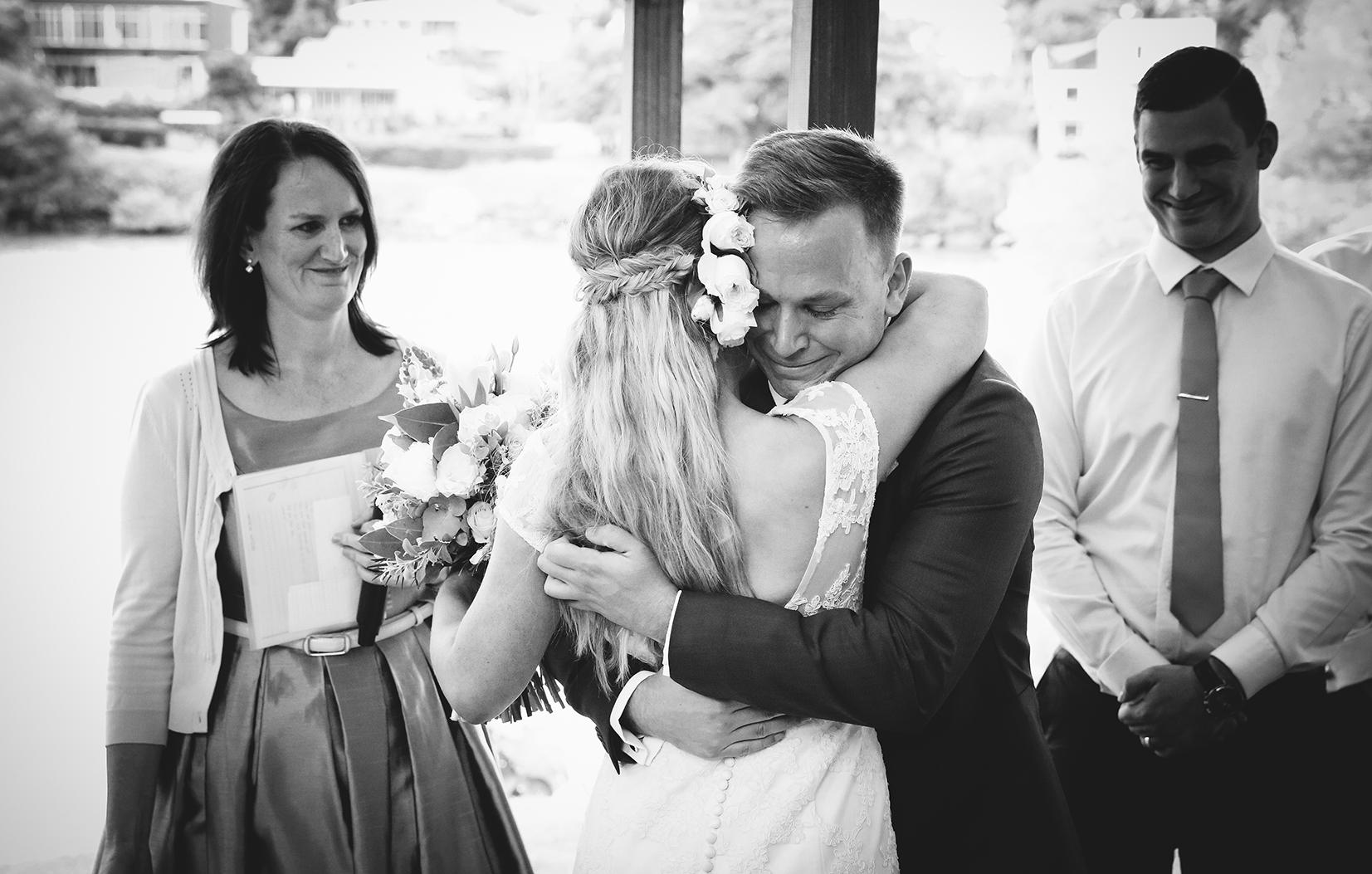 Brisbane riverside wedding